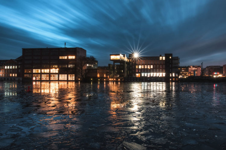 Architecture Building Building Exterior Built Structure City Cloud - Sky Dusk Illuminated Light Nature Night No People Outdoors Reflection River Sky Street Water Waterfront