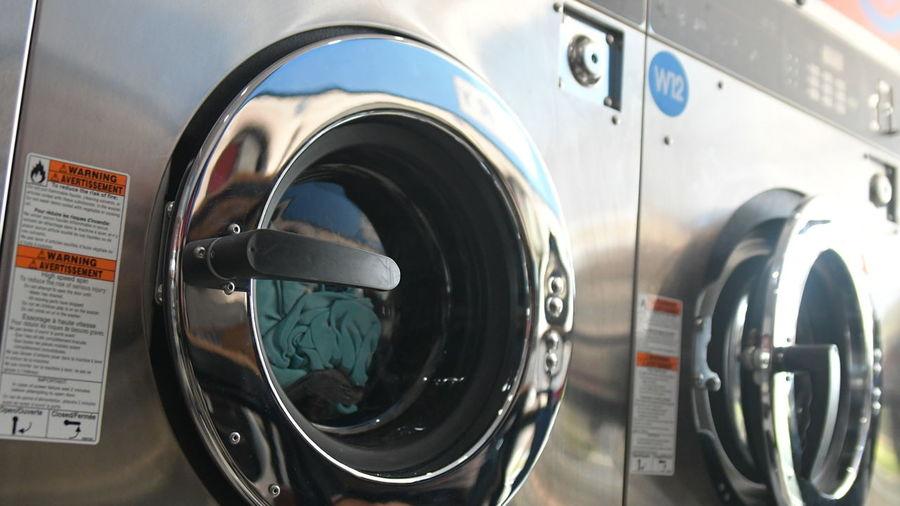 Close-up Washing Machine No People Day Laundry Laundromat Outdoors
