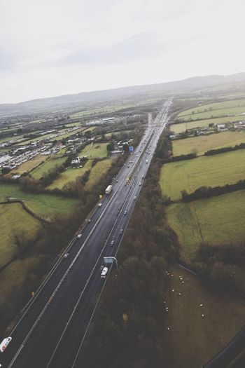 Transportation Aerial View Landscape Sky Scenics Mode Of Transport Nature No People Road Day Land Vehicle Outdoors Airplane Beauty In Nature Air Vehicle Airport Runway Motorway M5