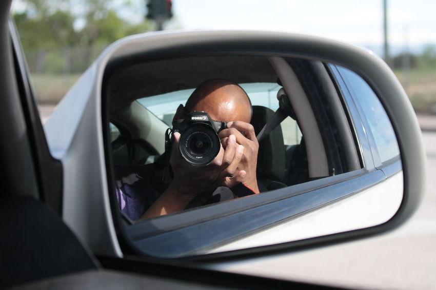 Camera Canon Canon 7D Canonphotography Close-up Day Drive Drive By Shooting Drivebyphotography Mirror Mirror Reflection Mirrorselfie Outdoors Reflection Selective Focus Self Portrait Selfie Selfportrait Side-view Mirror Transportation