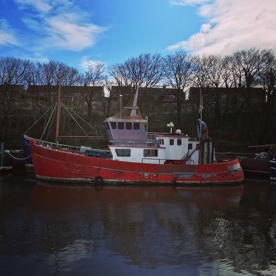 Eyemouth- Transportation Mode Of Transport Fishing Boat Fujifilm Ocean Scotland