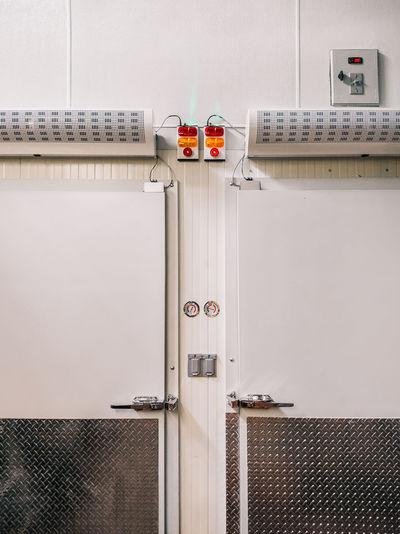 Full frame shot of door on wall