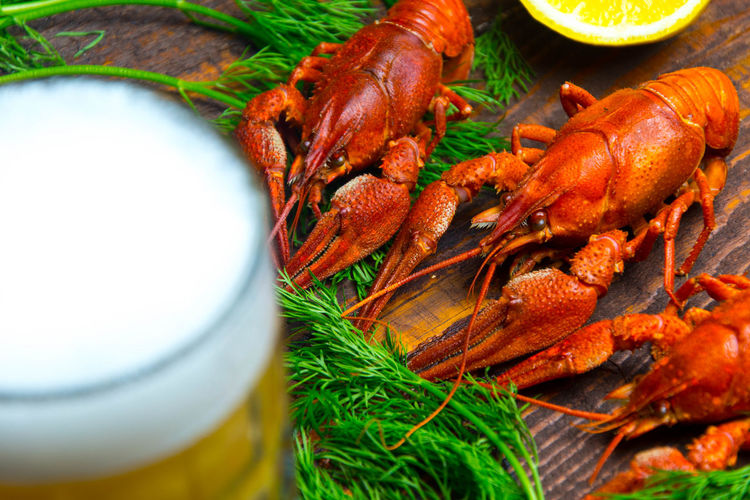 crayfish with