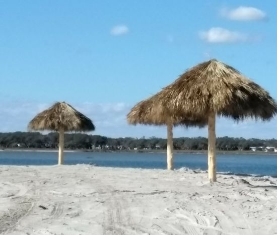 Beach Side Rockport Texas Beach Photography Beach Life Beach Time Sunny Day Wintertime Beach Thatched Roof Sea Sand Summer Clear Sky Beauty In Nature