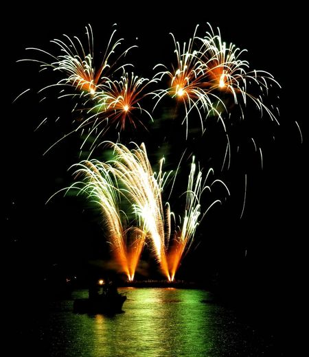 Exploding Firework Display Celebration Night Glowing Motion Long Exposure Firework - Man Made Object Multi Colored Illuminated No People Outdoors Event Awe Sky Italy Dervio Comolake Lake Como Italy