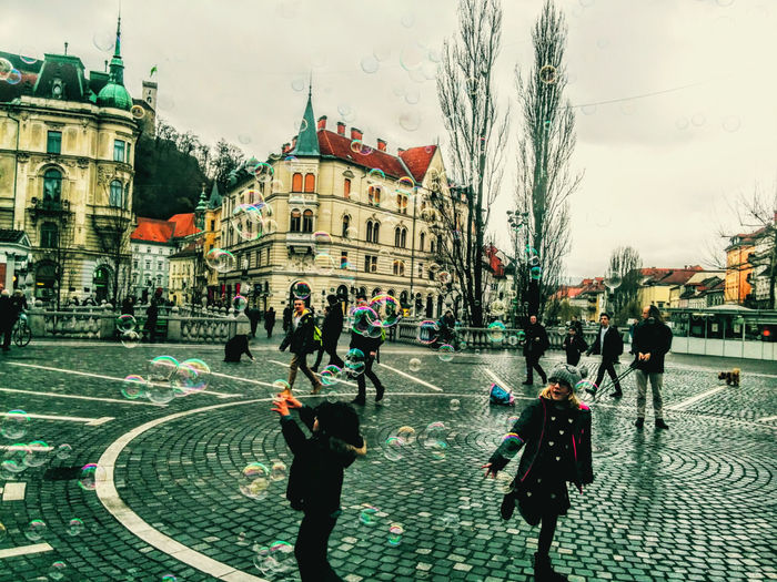 A glimpse of childhood. People Childhood Moment Positive Vibes Happiness Happy Bubbles Catching Bubbles Beauty Everywhere Ljubljanamoments EyeEm New Here