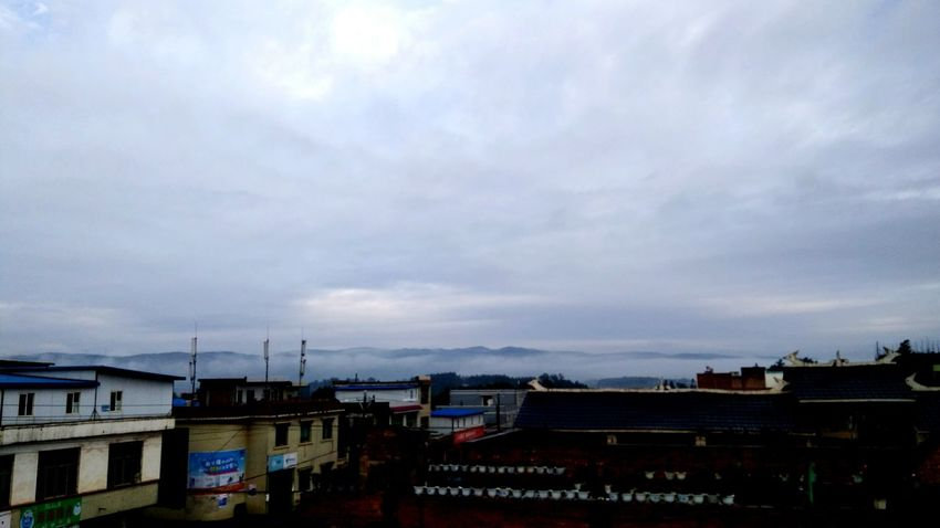 morning of Cloud - Sky No People Landscape Chinese Building town in highland