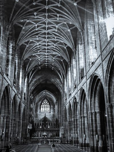 Arch Architecture Built Structure Celtic No People Travel Destinations Indoors  History Architecture Chatedral Blackandwhite Mystic