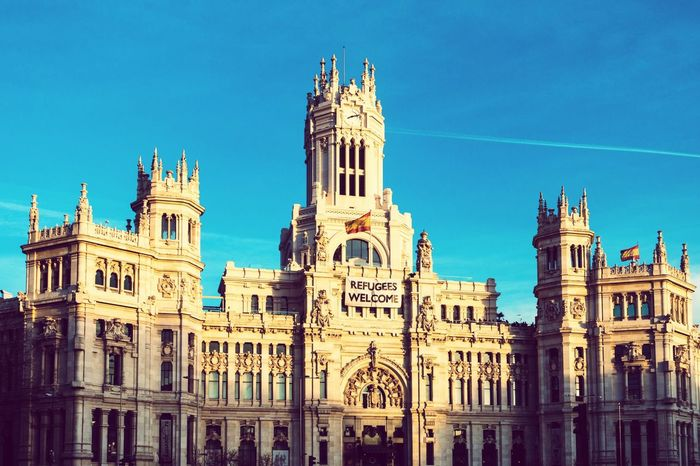 Madrid Plaza De Cibeles Madrid Building Historical Building Architecture Architecture_collection Architectural Detail Refugeeswelcome Telling Stories Differently The Architect - 2016 EyeEm Awards