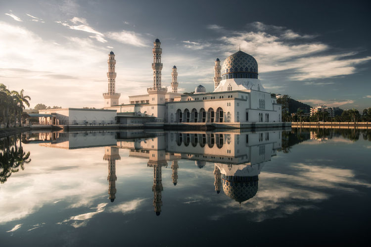 Light up Our Soul Architecture Cityscape Colors Morning Morning Light Place Of Worship Reflection Taking Photos Tranquility Travel Beauty In Nature Cloud - Sky Enjoying Life Landscape Light And Shadow Mosque Religion Sky Sprituality Sunrise Symmetry Tranquil Scene