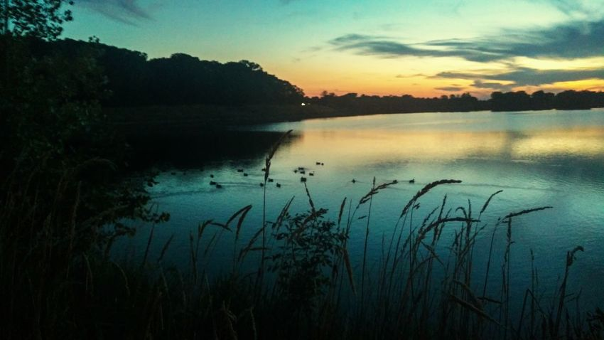 Ada Hayden Lake at sunset. Lake Nature Sunset Beauty In Nature Water Landscape Outdoors No People Beauty The Week On EyeEm
