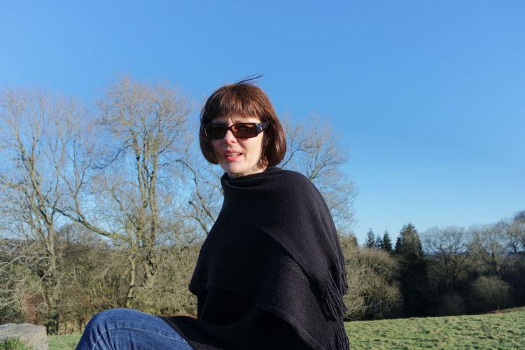 Portrait of mid adult women in park
