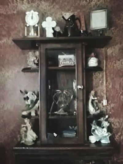 Curio cabinet my Husband Craig Diell made Me Love ♥ Wood Working ArtWork Artist