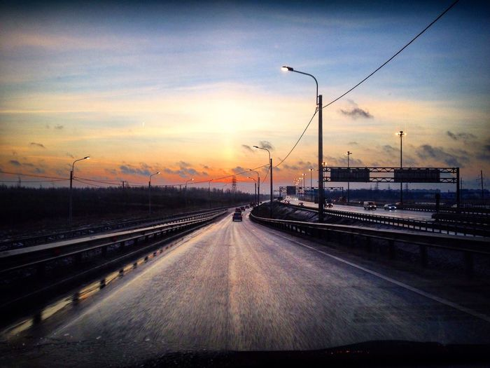 Road Sunrise Spring roadtrip