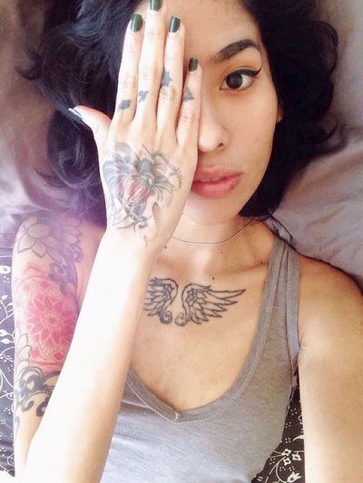 Tattoo Selfie Mixed Girl The Portraitist - 2015 EyeEm Awards Asian  Japanese  Brooklyn Fashion Street Fashion Ikoo