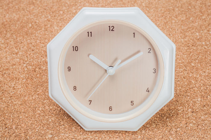 analog clock over wooden background Meeting Precious URGENT Analog Clock Clock Face Close-up Cut Off  Indoors  Minute Hand No People Time Vintage White Color