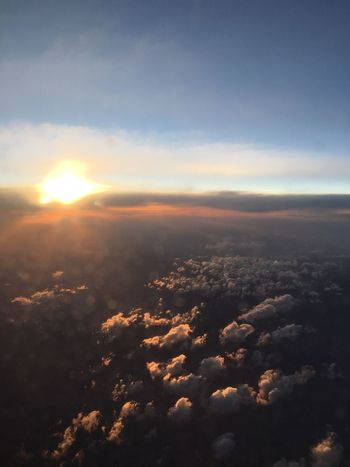 Blurred - head in the clouds. Sky Only Cloud - Sky Idyllic Scenics Aerial View Sunset Travel Tranquil Scene Perspectives On Nature Blurred Motion Sky_ Collection Letgo Satisfaction Align Sky Beauty In Nature Sunlight Cloudscape Clouds And Sky No People Motion Move Plane Earth Air