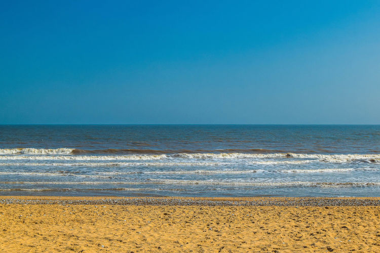 Sea Water Sky Beach Land Horizon Beauty In Nature Horizon Over Water Scenics - Nature Tranquil Scene Tranquility Clear Sky Sand Copy Space Nature Idyllic No People Blue Day Outdoors Beach Photography Space For Text Space For Copy