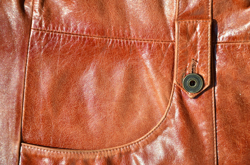 Full frame shot of leather bag