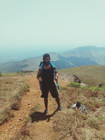 Tadiandamol trek ....got tanned AF but the view was worth it.. Tadiandamoltrek Trekking Solotravels Coorgdiaries
