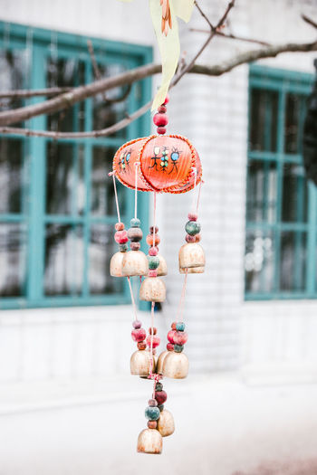 Close-up of stuffed toy hanging