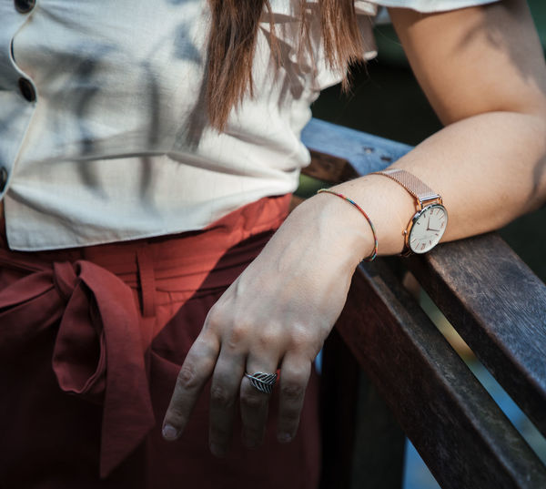 Advertising Adult Bracelet Close-up Day Focus On Foreground Hand Human Body Part Human Hand Jewelry Leisure Activity Lifestyles Midsection Nail One Person Real People Ring Time Watch Women Wristwatch