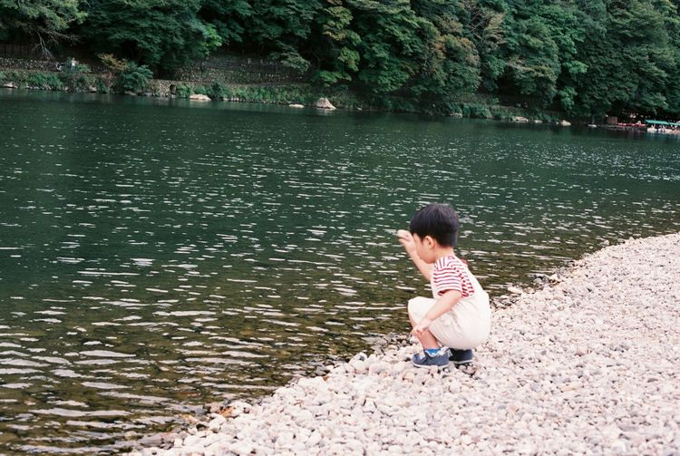 Analog Analogue Photography Calm Carefree Childhood Escapism Film Film Photography Forest Fuji Superia X-Tra 400 Getting Away From It All Japan Japanese  Outdoors Reflection Rippled River Riverbank Riverside Standing Water Tree Water Waterfront Weekend Activities