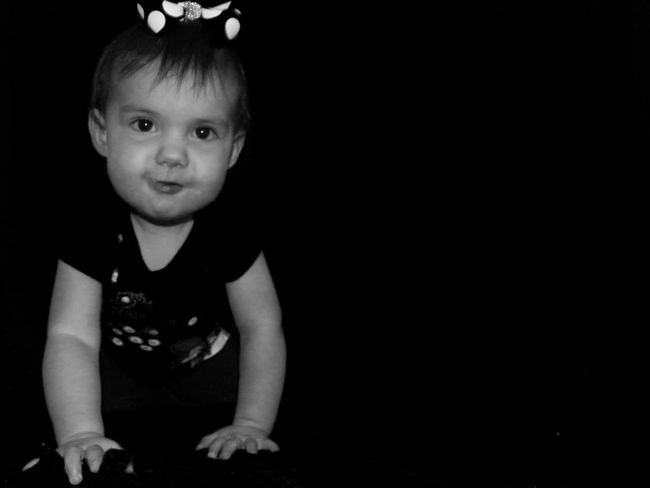 Childhood Cute Innocence Niece  Black And White High Contrast Baby Photos Baby Photoshoot