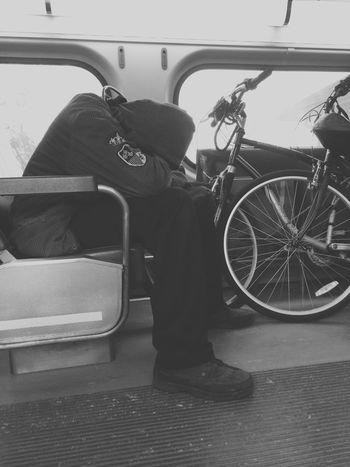 Skyliner Commuting Public Transportation Sleeping