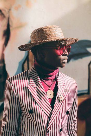 Africa Fashion Shadow Casualstyle Canon EyeEm Best Shots Protrait Golden Hour Portrait Flat Cap Checked Pattern Thoughtful Striped