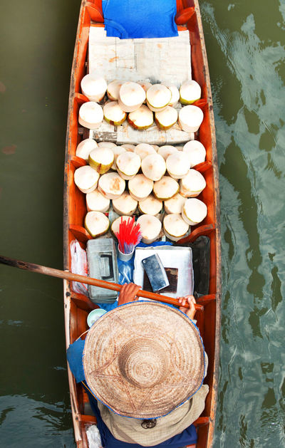 Abundance Basket Close-up Container Day Floating Market Dumnoen Saduak Freshness Group Of Objects Nature No People Outdoors Wood Wood - Material Wooden