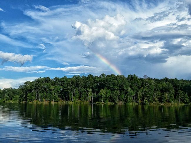 Just captured this while fishing.....absolutely amazing Rainy Days Outdoors Lake View Rainbow Clouds And Sky Reflections Cloud Formations Cloud_collection  Mississippi Summer Showcase July Lake Life Cloud Explosion Eyeemphoto The Magic Mission Live For The Story Place Of Heart The Great Outdoors - 2017 EyeEm Awards