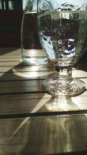 Drink Drinking Glass Table Reflection Shadow Glass - Material Close-up Food And Drink Half Full Crystal Glassware Crystal Refraction Purified Water Served My Best Photo