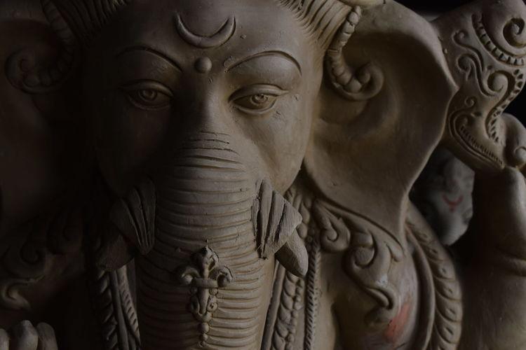 Close-up of ganesha statue