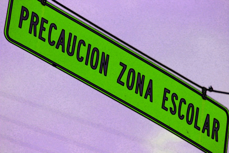 jaja nadie hace caso Blue Close-up Day Information Information Sign Low Angle View No People Outdoors Text Yellow