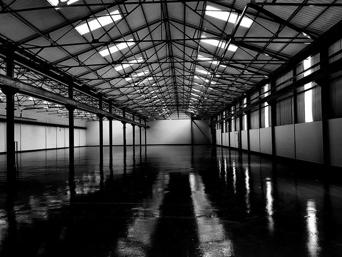 Empty refurbished warehouse