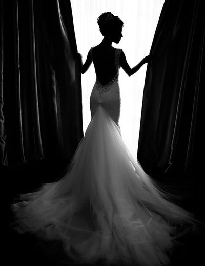Women Who Inspire You Wedding Girl Dress Backless Bride Silhouette Waiting Beautiful Model Inspirational Fashion Longdress Hairstyle Woman
