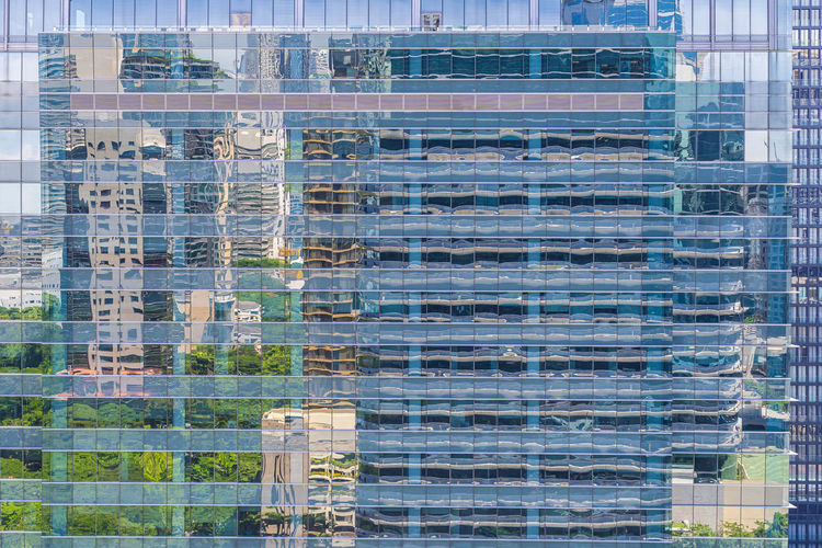 Full frame shot of glass building
