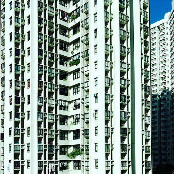 Another Point Of View Hong Kong Skyline Sky And Clouds Light And Shadow Street Photographer-2016 Eyem Awards Architecture Hong Kong Architecture IPhoneography Buildings & Sky Building Exterior Sunlight, Shades And Shadows Sun And Shadow Building And Sky