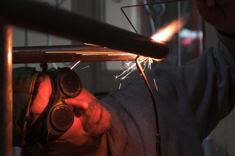Fire Flame Glasses Glowing Heat Heat - Temperature Pipe Precision Sparkle Welding
