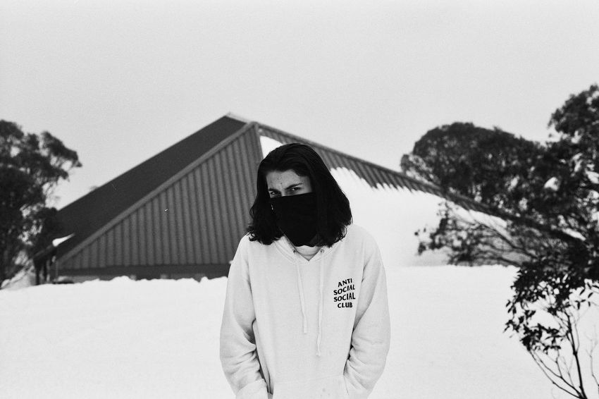 Winter Snow Cold Temperature Lifestyles Casual Clothing Young AdultWinter No Edit/no Filter Pentax Blackandwhite Delta 100 Youth Film Photography Pentax Me Ilford Check This Out DreamScapes Filmisnotdead Youth Of Today Momochrome Anti Social Street Fashion Streetwear Snow Cold Temperature