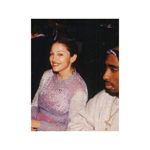 Madonna and Tupac. Gm  Sundaymorning Grandiartisti Instagood Instaidols Instalove Mammamà 🔝❤✈