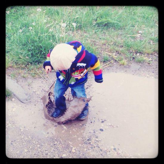 Having Fun Good Times Mud My Son