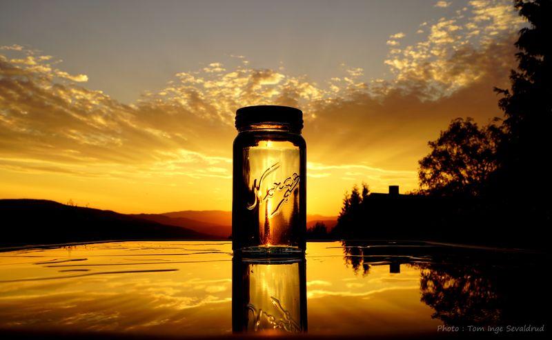 Photoart Norgesglass Creativephoto Sunset Sky Cloud - Sky Reflection Water Nature Orange Color EyeEmNewHere