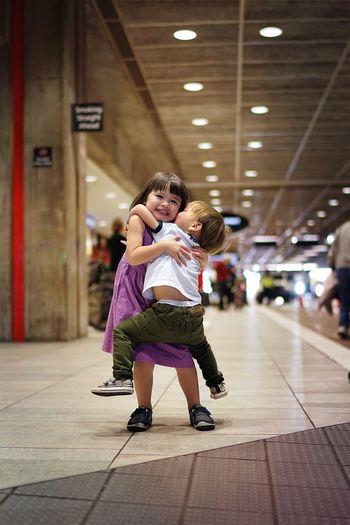 Siblings love!