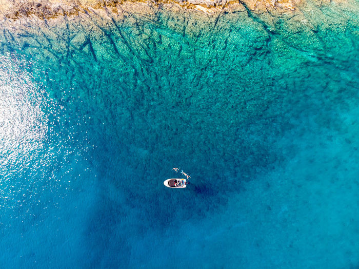 Water Sea Underwater UnderSea Nature High Angle View Blue Beauty In Nature Scenics - Nature Nautical Vessel Travel Transportation Day Outdoors Swimming Sport Adventure Aquatic Sport Turquoise Colored Drone  Dronephotography Dji DJI Mavic Air Aerial View Aerial Shot Aerial Photography