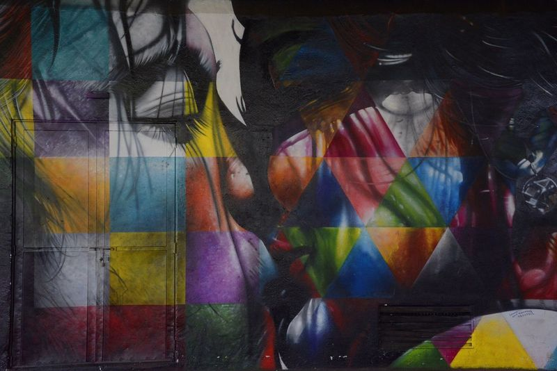 Walking today I just passed by a Nice piece of art at Ibirapuera Park done by Eduardo Kobra Graffiti Streetart Kobra