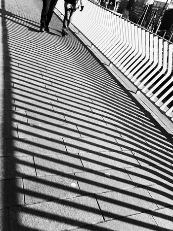 Shadow Street Blackandwhite Contrast Low Section Shadow Pattern Human Leg Steps And Staircases Day Steps Outdoors Real People Sunlight People