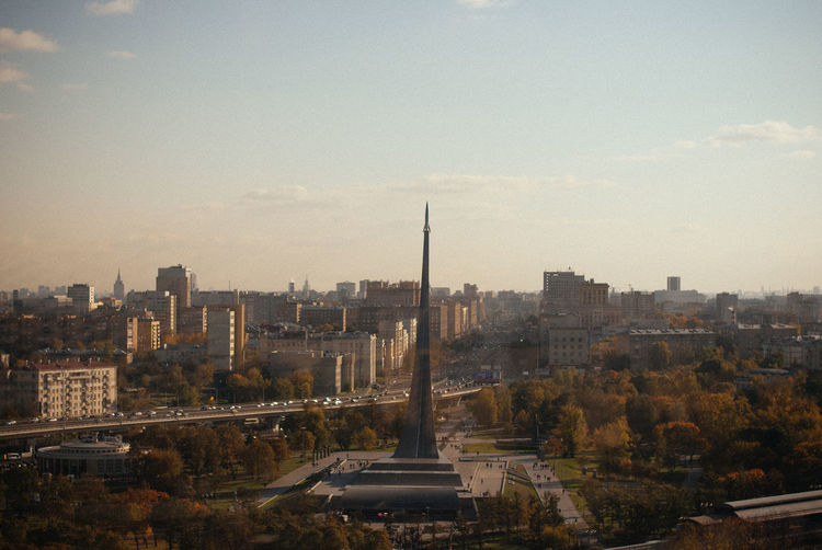 MONUMENT TO THE CONQUERORS OF SPACE FROM MOSCOW