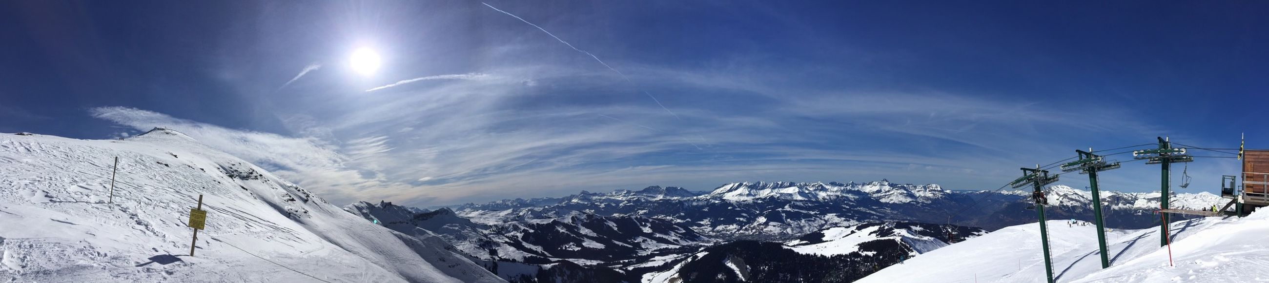En direct .... Panorama Saint Gervais Skiing Mont Joly Enjoying Life Mountain View Nofilter